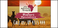 The African Touch sponsoring Bird Rescue Centre